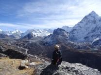 View towards Island Peak in the Everest region.